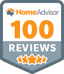 HomeAdvisor 100 Reviews Badge