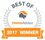 HomeAdvisor Best of 2017 Winner Bedge